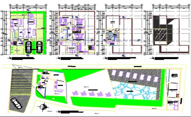 Key plan and working plan detail dwg file