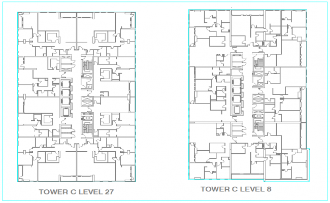 Keyplan tower design for level 27 and 8