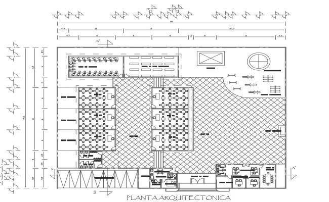 Kinder school architecture layout plan details dwg file