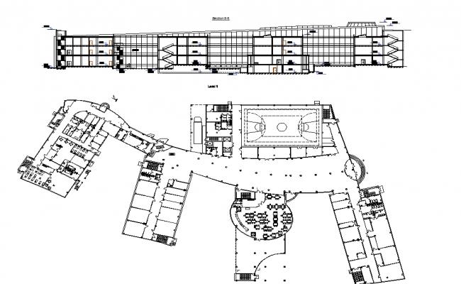 Kindergarten pre school layout plan dwg file