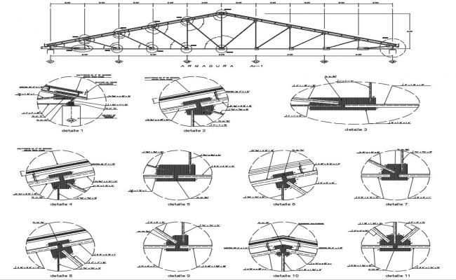King Truss Design CAD file download