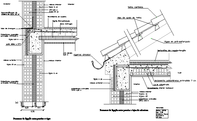King-post section detail dwg file