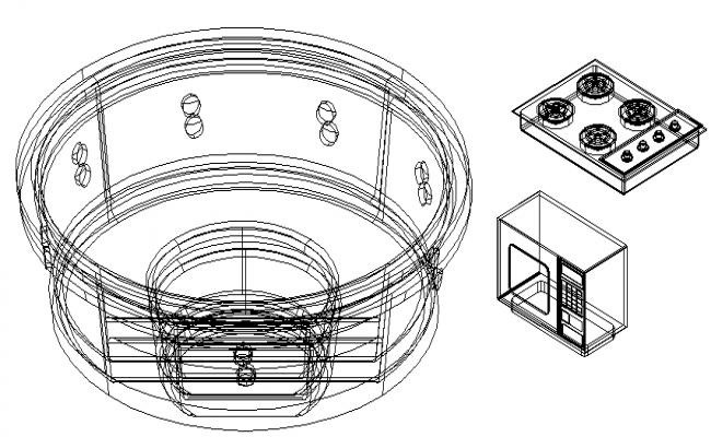 Kitchen Accessories Block Design dwg file