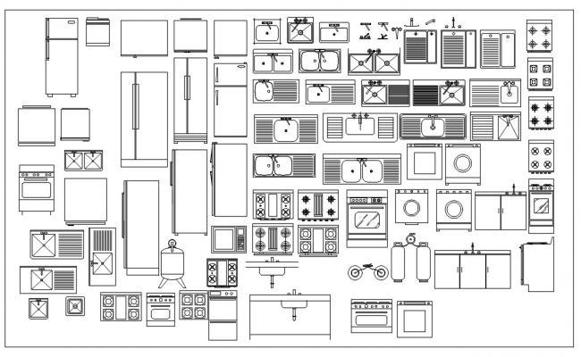 Kitchen CAD Blocks