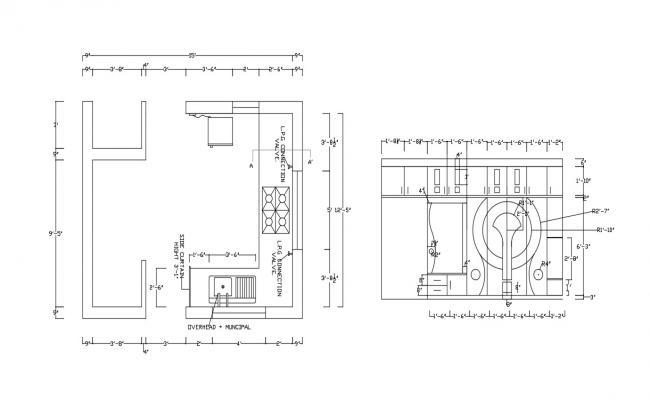Kitchen Floor Plan Design AutoCAD Drawing Download
