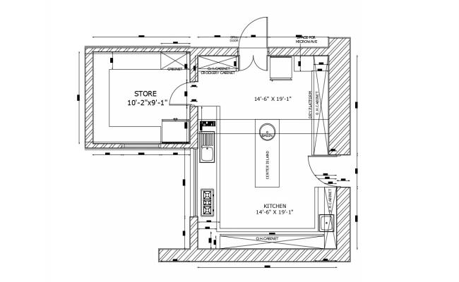 Kitchen Floor Plan with Dimensions