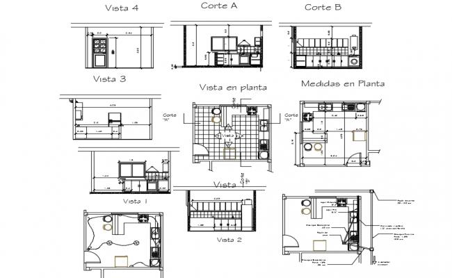 Modern kitchen Design In DWG File