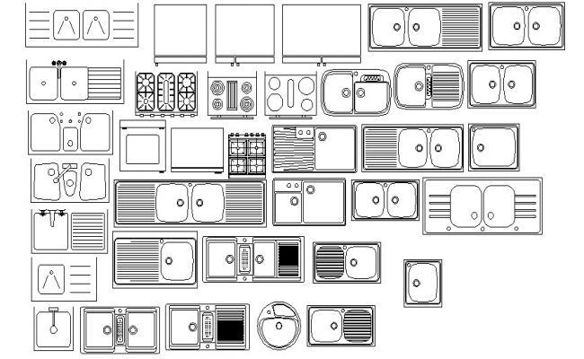 Kitchen Sink Free CAD Blocks Free Download