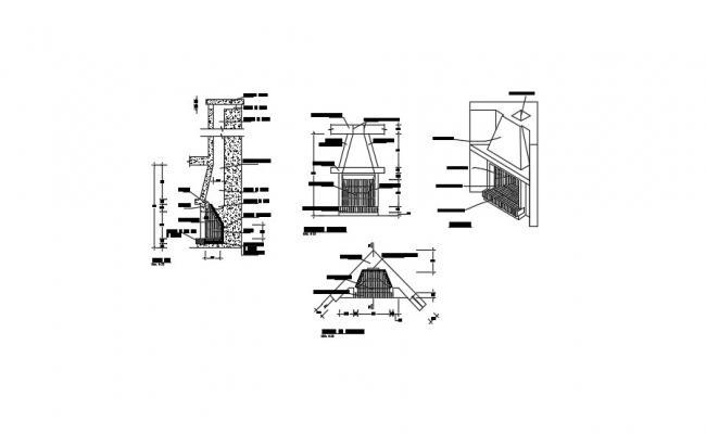 Kitchen Wood Chimney Design In DWG FIile