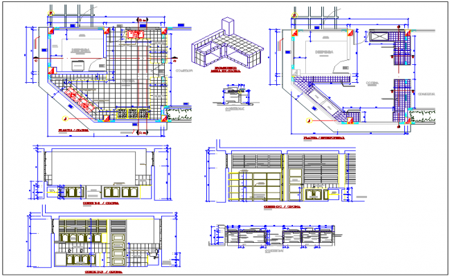 Kitchen Plan And Elevation Furniture Autocad Dwg File Kitchen Design Of Corporate Building Dwg