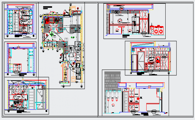 Kitchen detailing department design drawing