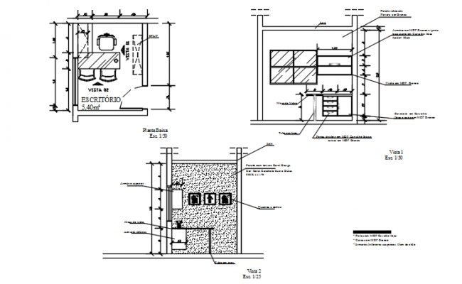 Kitchen elevation detail dwg file