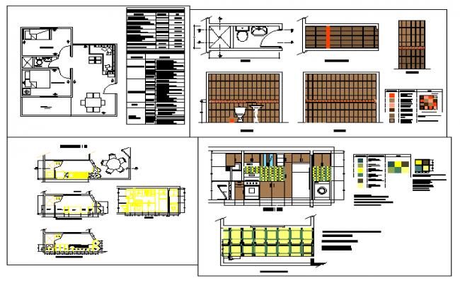 Kitchen interior design detail drawing for Kitchen design details