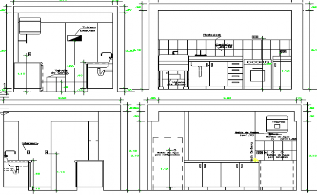 Kitchen Of House Architecture Layout Plan Dwg File