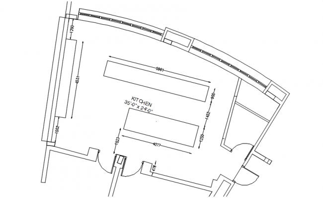 Kitchen Floor Plan Design In AutoCAD File