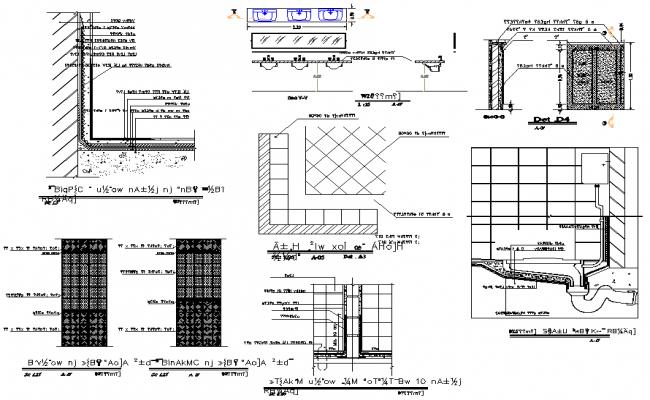 L section plan detail dwg file