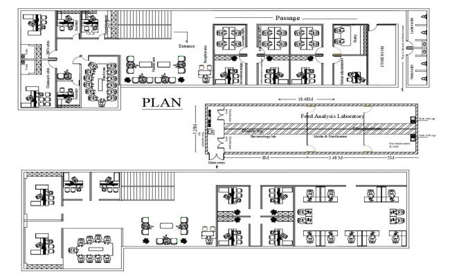 Laboratory Layout Drawing CAD Plan