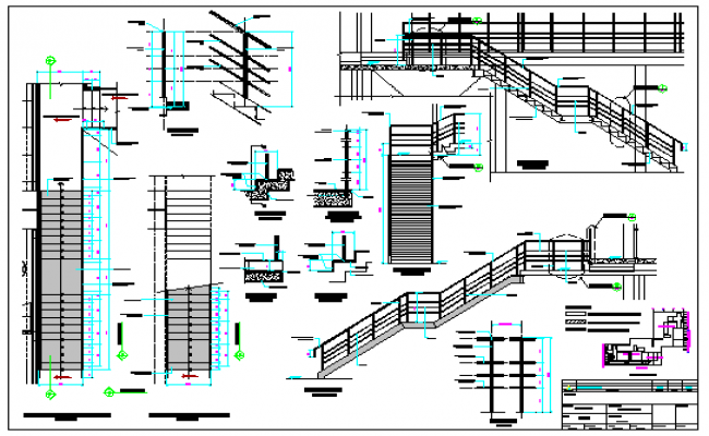 Ladder design drawing of office design