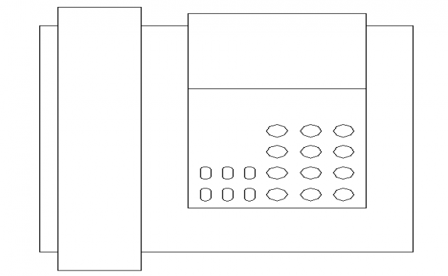 Landline telephone cad design block dwg file
