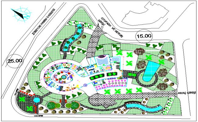 Landscape design of hotel