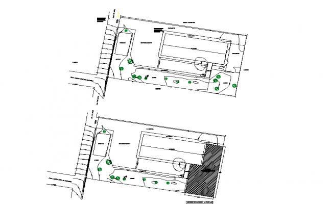 Landscape layout plan dwg file