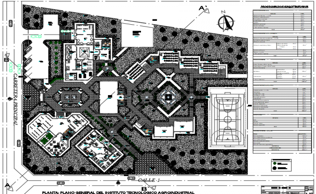 Landscaping Technology college detail dwg file