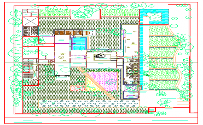 Landscaping design drawing of farm house.