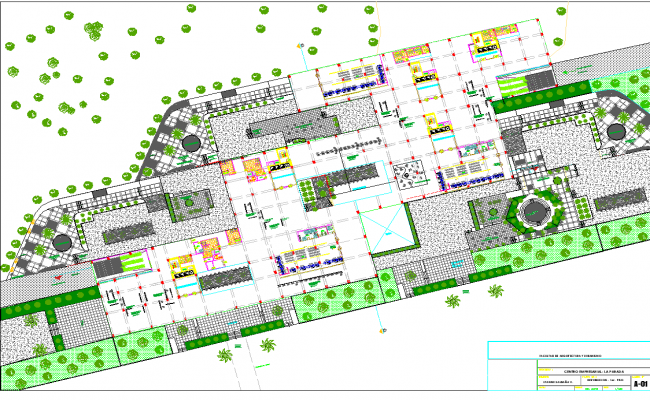 Landscaping financial center layout file