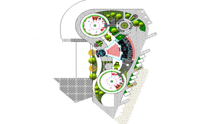 Landscaping garden detail dwg file