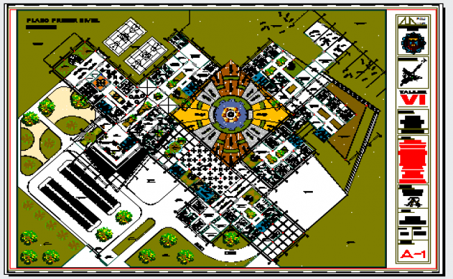Landscaping layout of Technical school and vocational training center.