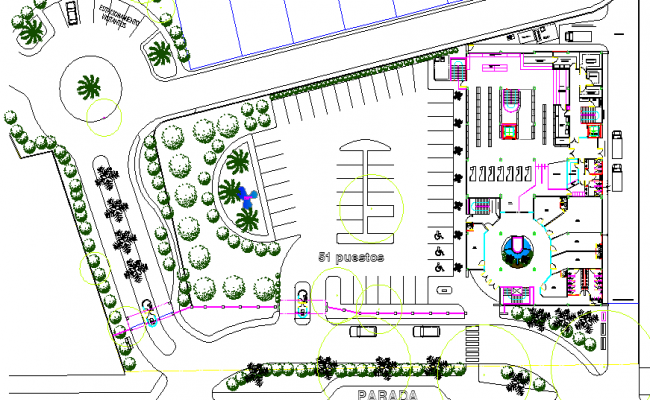 Landscaping of paradise villa project dwg file