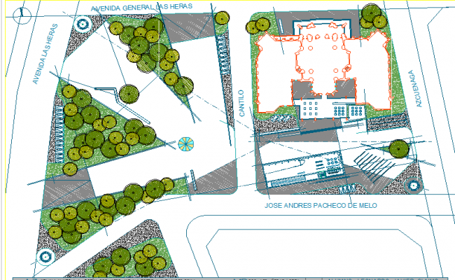 Landscaping plot detail dwg file