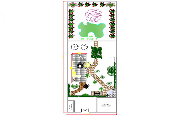 Landscaping plot layout file