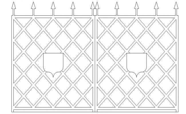 Lattice front elevation design dwg file
