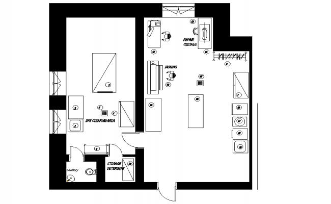 Laundry room plan dwg file
