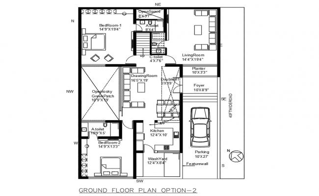 Lavish House Building Plan AutoCAD Drawing Free Download