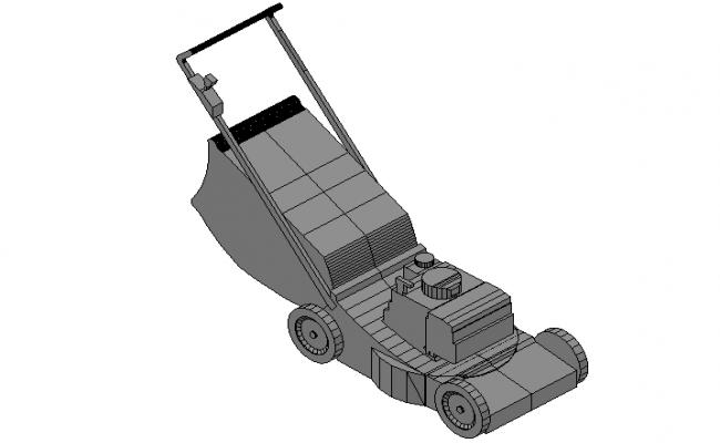 Lawn garden mover machine 3d