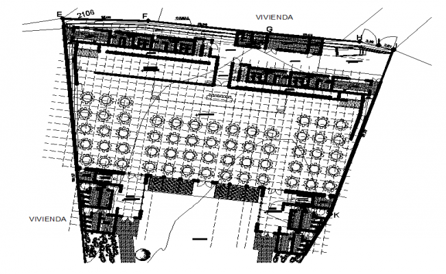 Layout Commercial plan and elevation layout detail dwg file