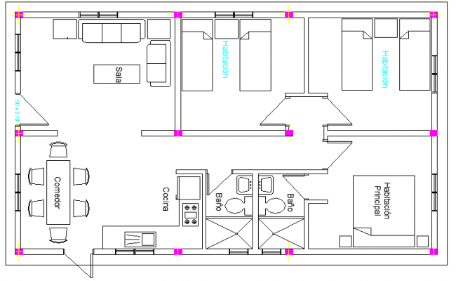 Layout Plan of Housing Project dwg file