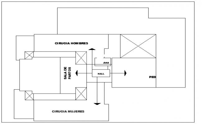 Layout Plan of Maternity dwg file