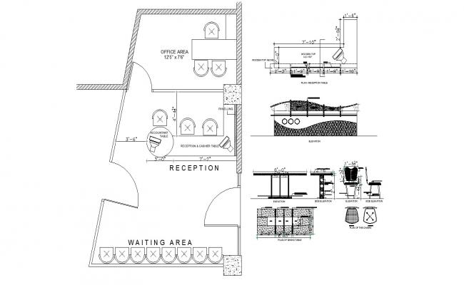Restaurant Layout Plan In DWG File