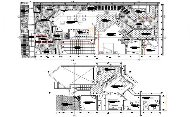 Layout Single family house layout file