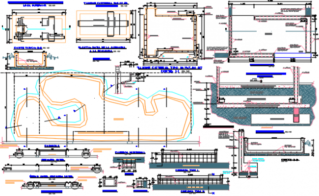 Layout Working Commercial plan detail dwg file