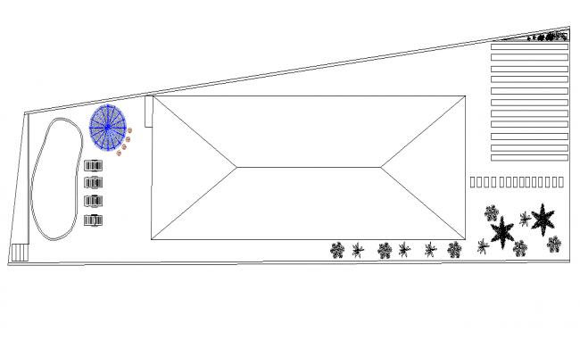 Layout beach house plan detail dwg file