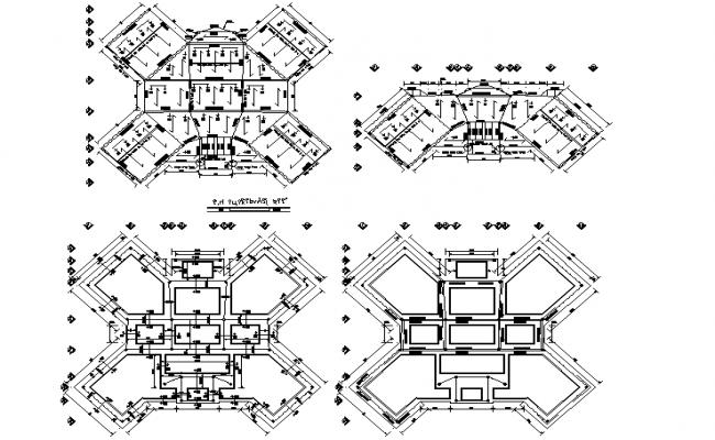 Layout building plan detail dwg file