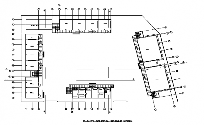 Layout college plan detail dwg file