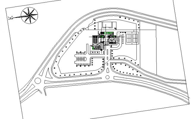 Layout hotel plan detail dwg file