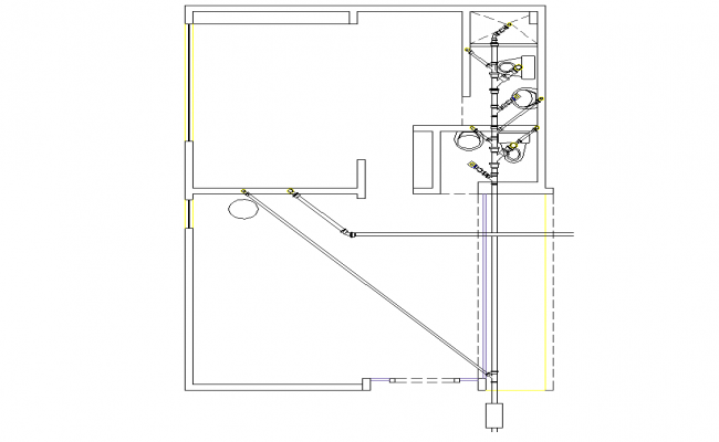 Layout house plan detail dwg file