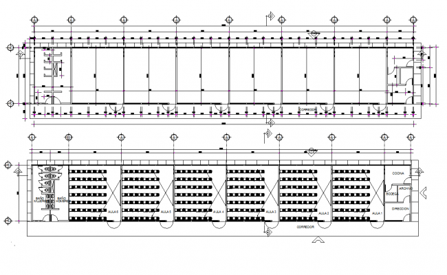 Layout of a primary school dwg file