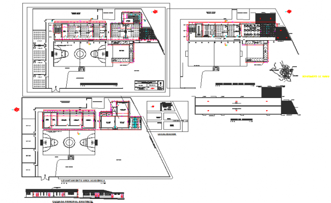 Layout plan and elevation detail dwg file